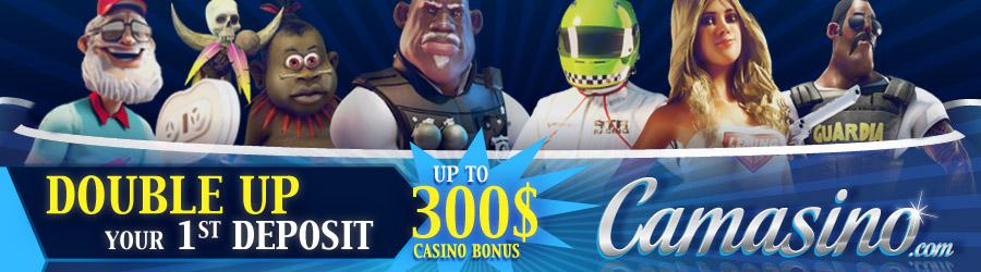 Camasino welcome bonus