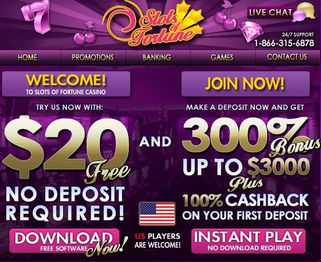 Slots of Fortune no deposit bonus
