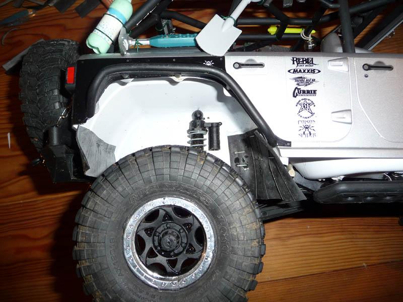 Fabriquer passage de roues et garde boue pour SCX10 et tout Scale Trial 610