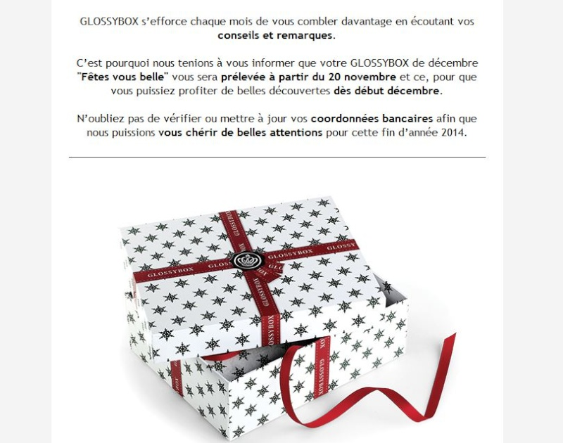 [Décembre 2014] Glossybox Glossy11