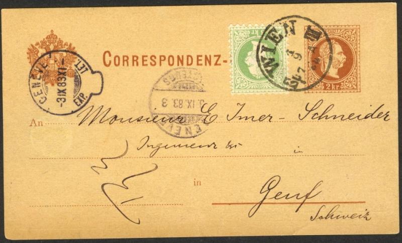 Korrespondenz-Karte nach Genf/Schweiz Korres10