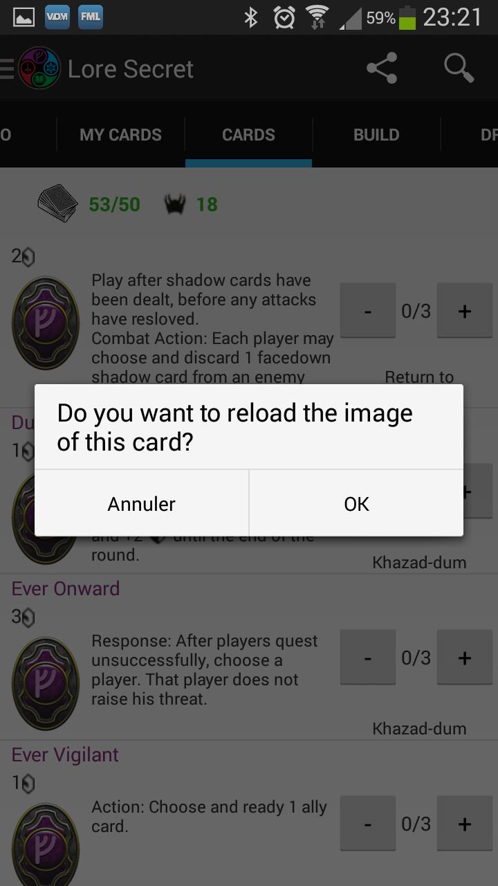LoTR DeckBuilder - Application Android (disponible voir page 8) - Page 3 Reload10