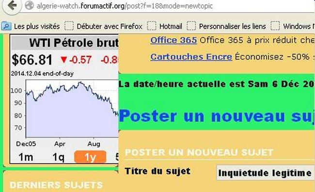 Inquietude legitime pour l'Algerie Mimoun20