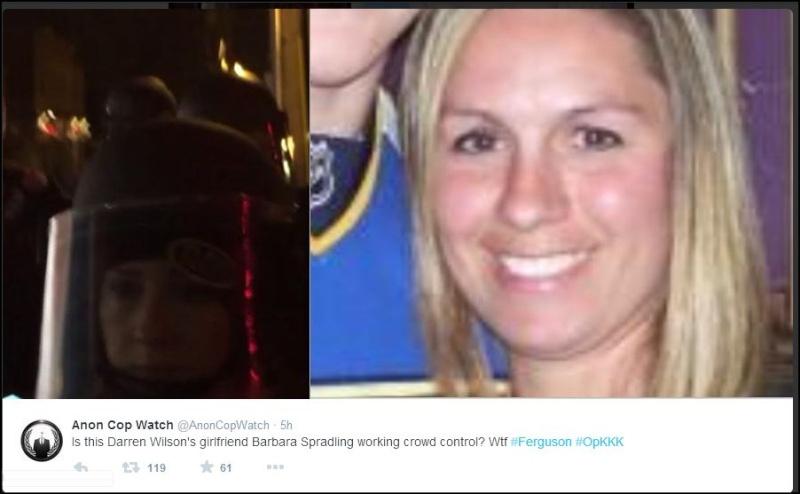 Barbara Spradling - Darren Wilson's Girlfriend? Police, Too? Danger? Anon_d10