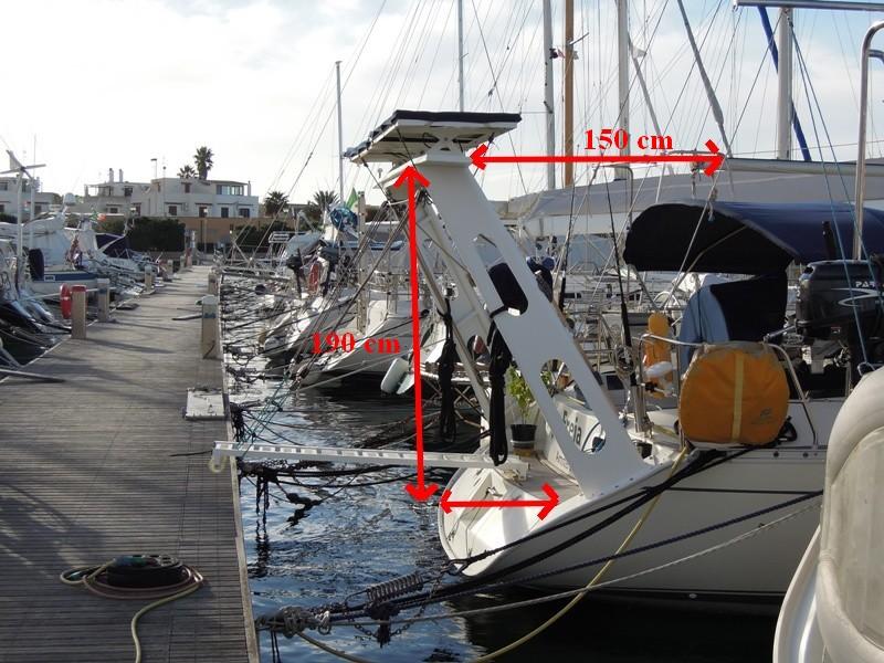 PORTIQUE - Un exemple de portique en alu sur Océanis 430 510
