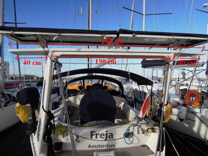 PORTIQUE - Un exemple de portique en alu sur Océanis 430 610