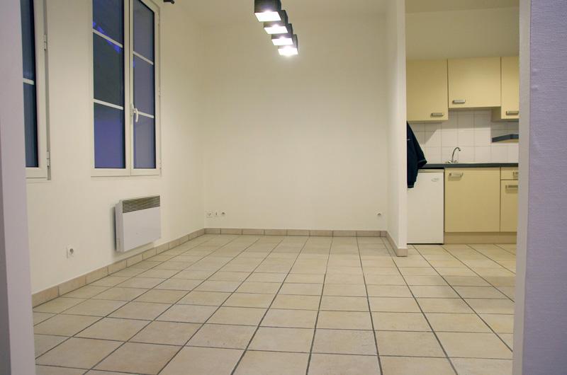 Petit salon en longueur sur cuisine ouverte Salon110