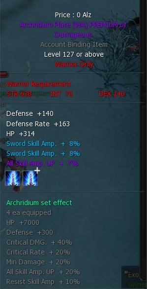 Archridium Triple Amp Armors 3ple10