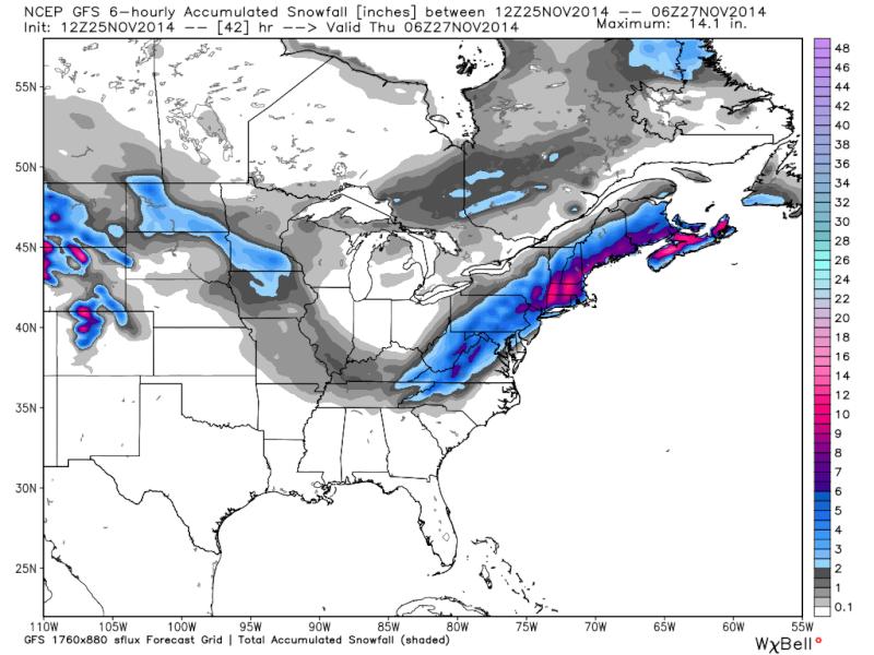 11/26 Coastal Storm Part 2: Forecast & Snow Map - Page 12 Gfs_6h12