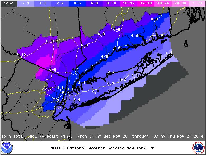 11/26 Coastal Storm Part 2: Forecast & Snow Map Stormt11