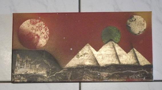 Mes 15 1er tableaux, sur chassis et/ou toiles cartonnées; Bombes : Amsterdam et liquitex. donnez-moi votre avis. Merci, @+. Dscf1810