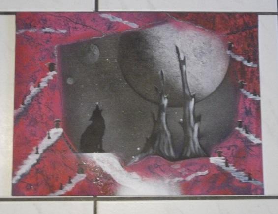 Mes 15 1er tableaux, sur chassis et/ou toiles cartonnées; Bombes : Amsterdam et liquitex. donnez-moi votre avis. Merci, @+. Dscf1812