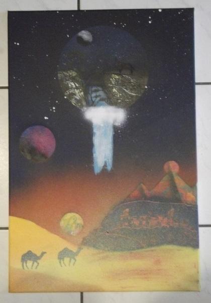 Mes 15 1er tableaux, sur chassis et/ou toiles cartonnées; Bombes : Amsterdam et liquitex. donnez-moi votre avis. Merci, @+. Dscf1813