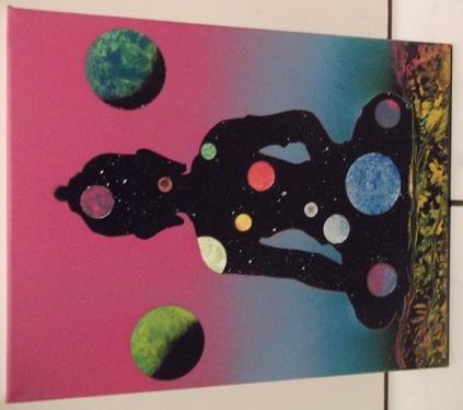 Mes 15 1er tableaux, sur chassis et/ou toiles cartonnées; Bombes : Amsterdam et liquitex. donnez-moi votre avis. Merci, @+. Dscf1920