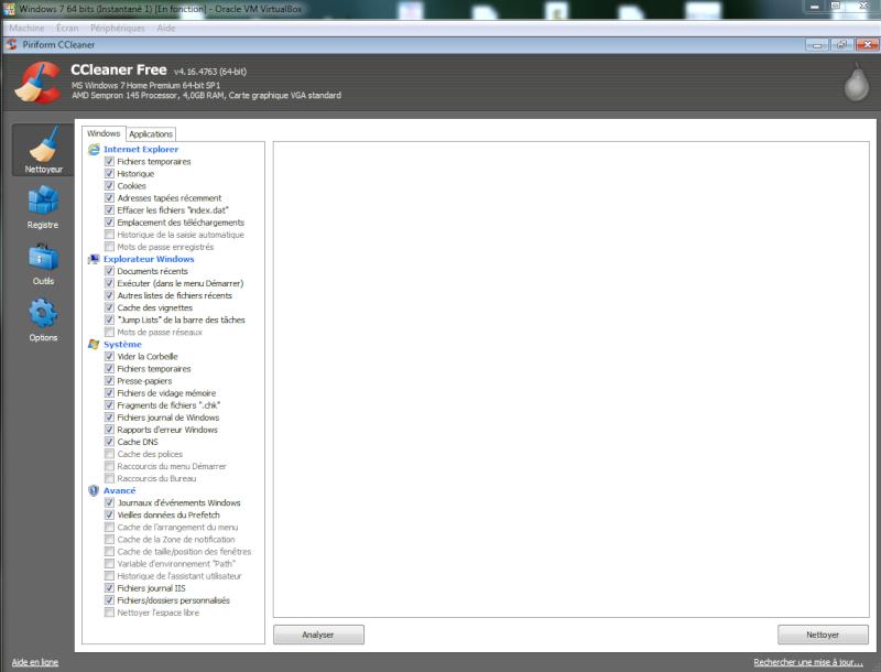 Libérer de l'espace sur un disque dur sous Windows Cclean10