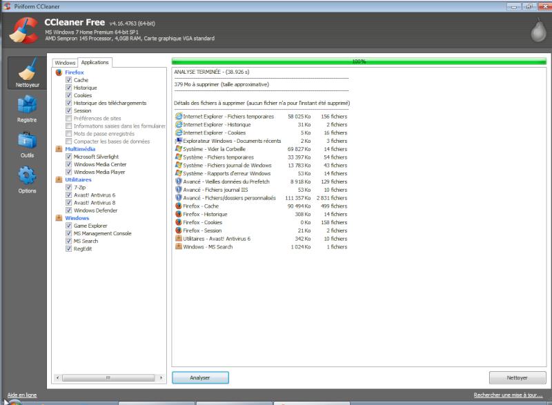 Libérer de l'espace sur un disque dur sous Windows Cclean11