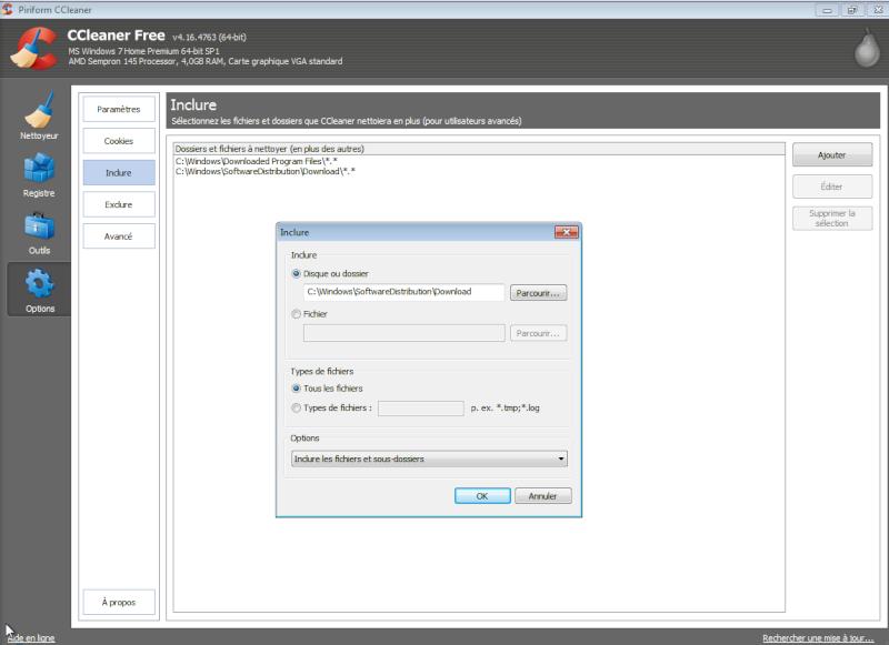 Libérer de l'espace sur un disque dur sous Windows Cclean12