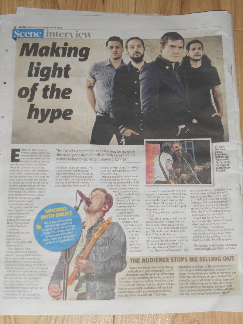 Interview in the London Metro (11/19/14) Dscn2810