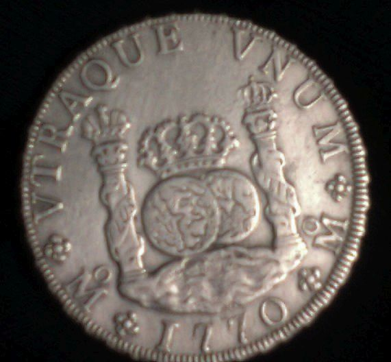 agains about 8 reales Dos Mundos 1770 , genuine or fake ? 00110