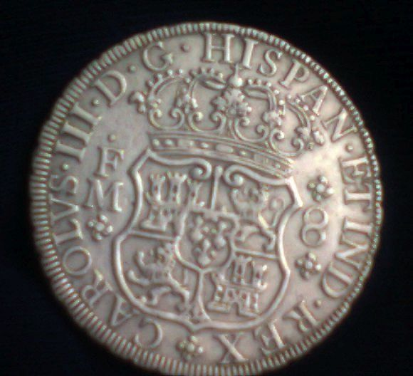 agains about 8 reales Dos Mundos 1770 , genuine or fake ? 00210