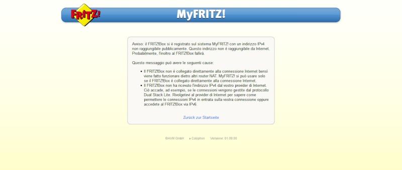 indirizzo IPv4 non raggiungibile Questo11