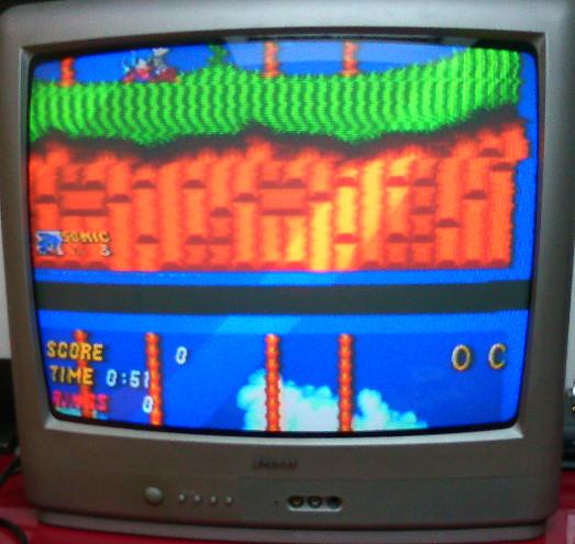 Aide pour brancher un Genesis 32X (US) sur une MegaDrive 1 RGB (FR)  Sonic210