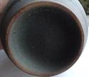 Blue Geometric Sgraffito Vase Sgraf210