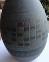 Blue Geometric Sgraffito Vase Sgraf312