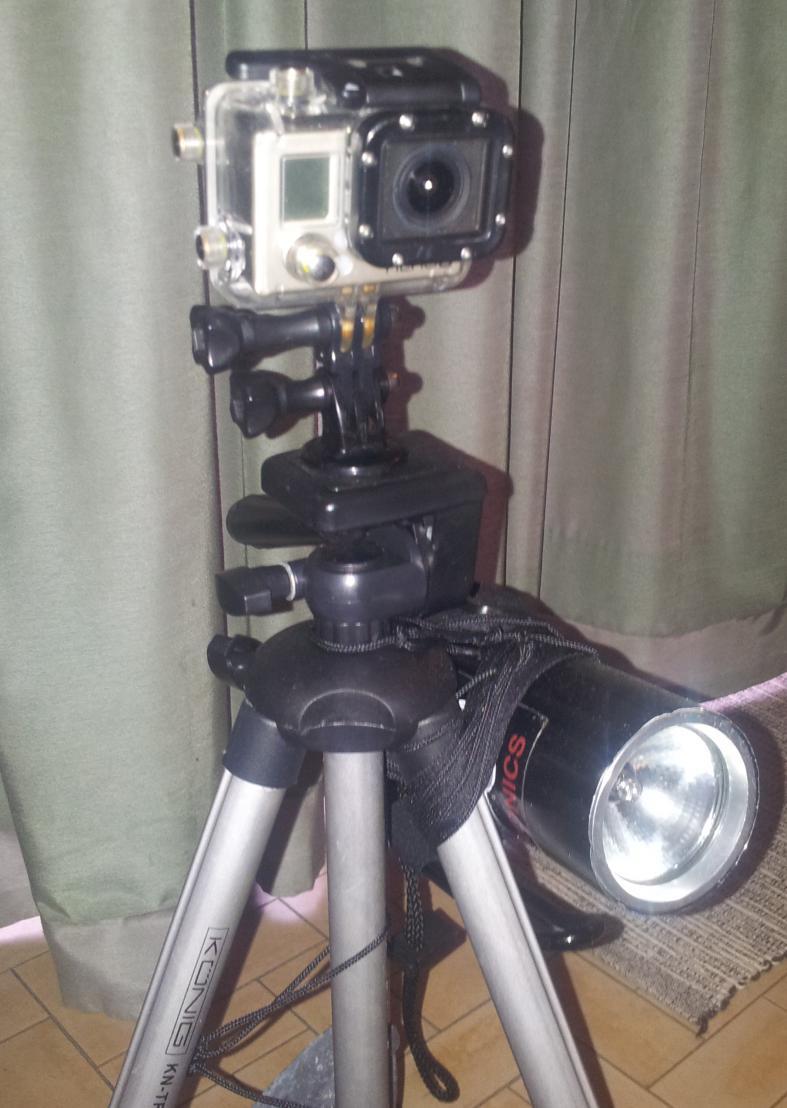 trepied + gopro pour filmer sous l'eau Trepie10