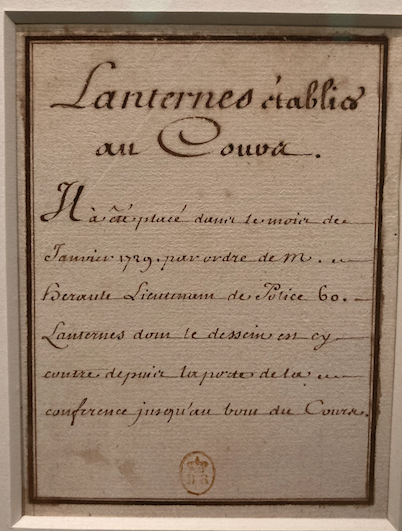 Exposition La Police des Lumières, Archives Nationales Capt1252