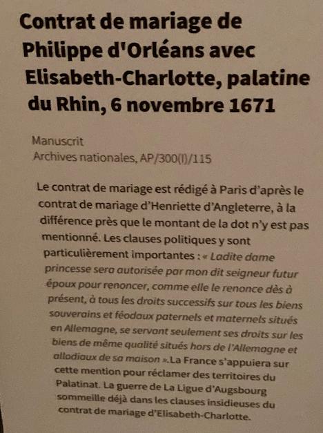 Expo, La princesse Palatine, la plume et le Soleil, Avelines Capt1299