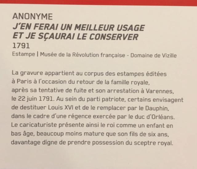 Vizille : Exposition Heurs et malheurs de Louis XVII Captur66