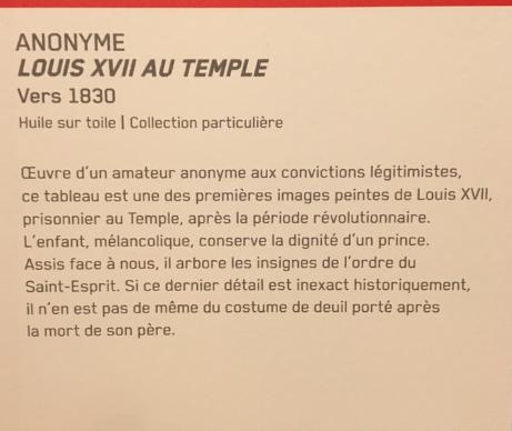 Vizille : Exposition Heurs et malheurs de Louis XVII Captur68