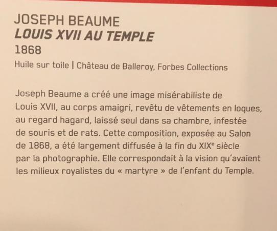 Vizille : Exposition Heurs et malheurs de Louis XVII Captur70