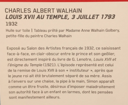 Vizille : Exposition Heurs et malheurs de Louis XVII Captur75