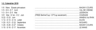 TTE et Free Racing 2019 programme rajouter  Calend12