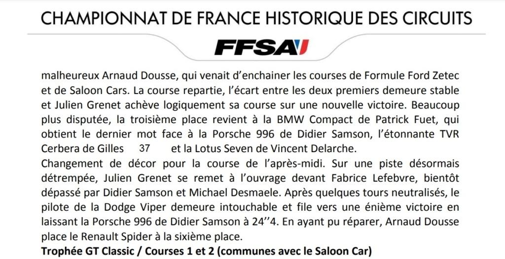 Historic Tour Saloon Car 2020 Val de Vienne On_par10