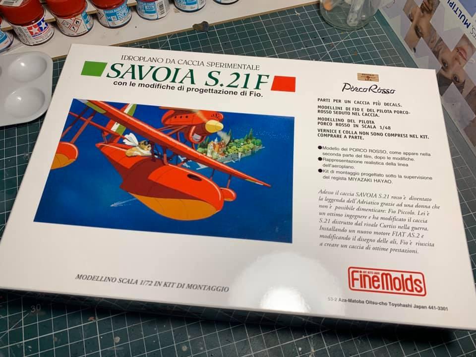 SAVIOA S.21.F du film Porco Roso + tentative de diorama 0193