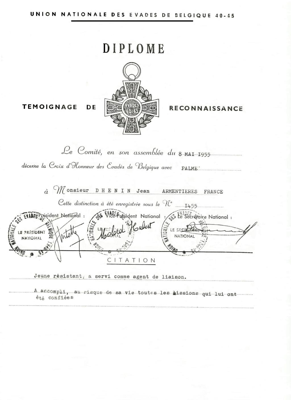 Croix d'Honneur des Evadés de Belgique 19_cro11