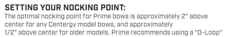 Nock point sur Prime Centergy X1 Captur13
