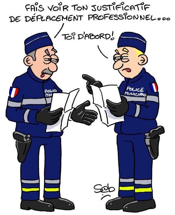 LES BLAGUES DES CONFINE(E)S Police10