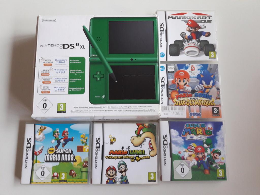 [VENDU]Console Nintendo DSi XL + 5 jeux DS Mario 20200611