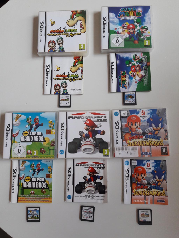 [VENDU]Console Nintendo DSi XL + 5 jeux DS Mario 20200612