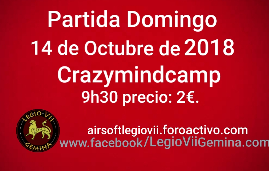 Partida Domingo 14 OCTUBRE 2018 20181010