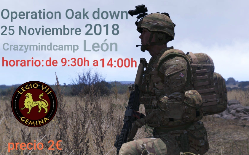 OPERATION OAK DOWN 25 NOVIEMBRE 2018 CRAZYMINDCAMP 20181110