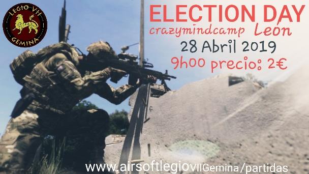 Election Day 28 de abril de 2019 crazymindcamp León 20190411