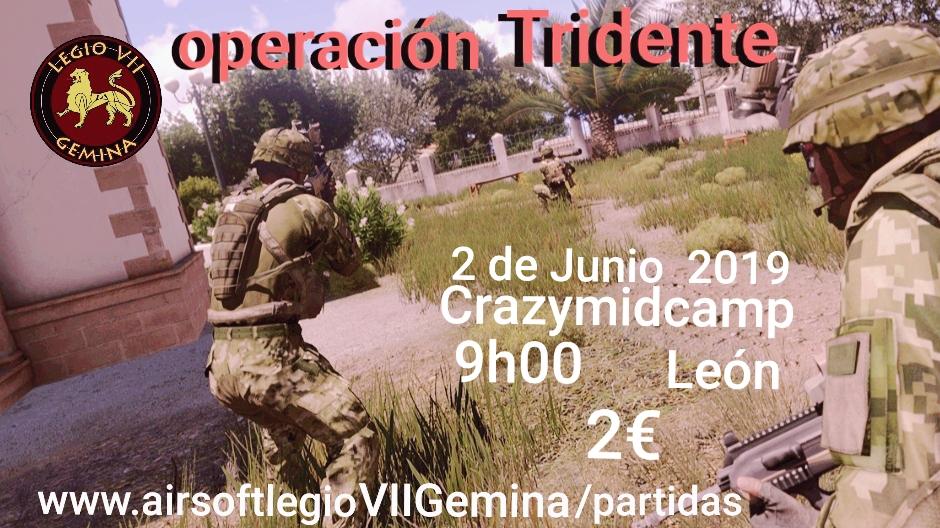Operación Tridente 02 06 19 Crazymidcamp León 09:00h 20190511