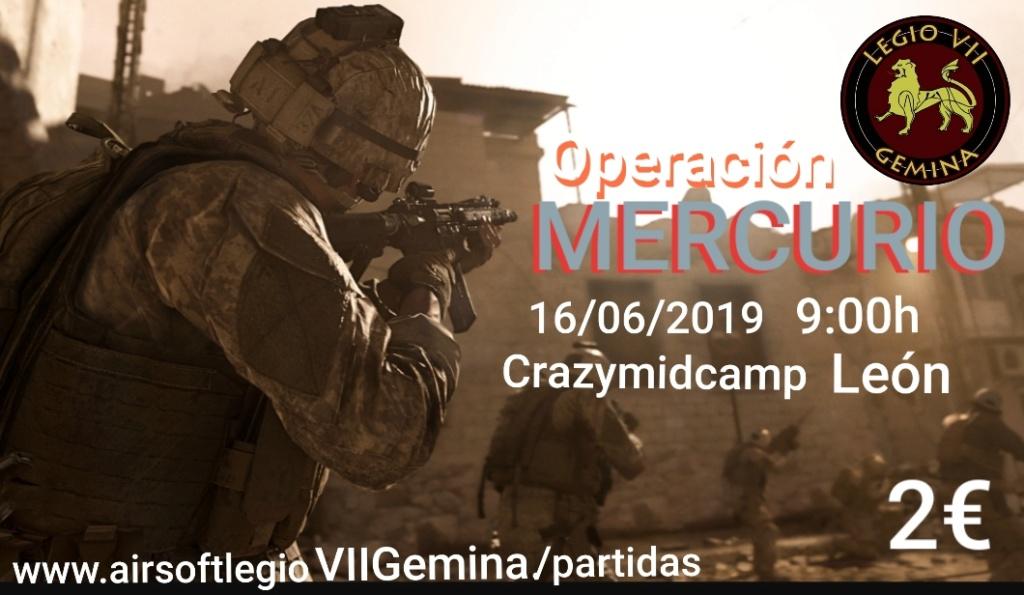 OPERACIÓN MERCURIO 16 06 19 CRAZYMIDCAMP LEON 9:00h 20190610