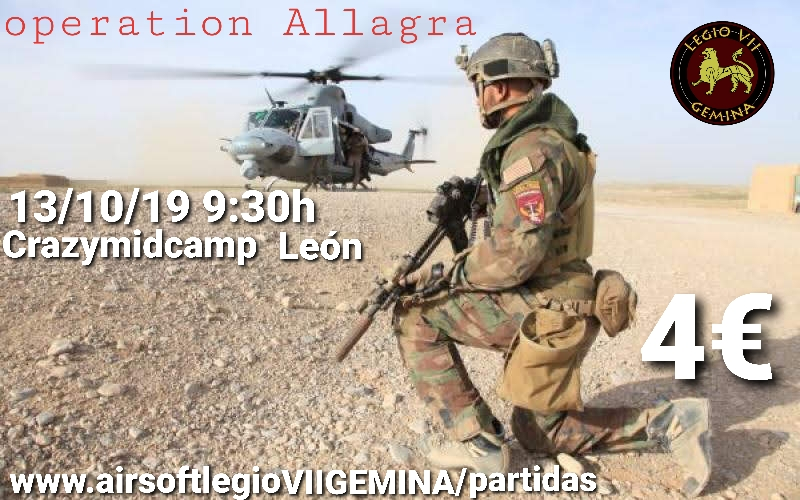Operation ALLAGRA 13  OCTUBRE 2019 CRAZYMIDCAMP  20191011