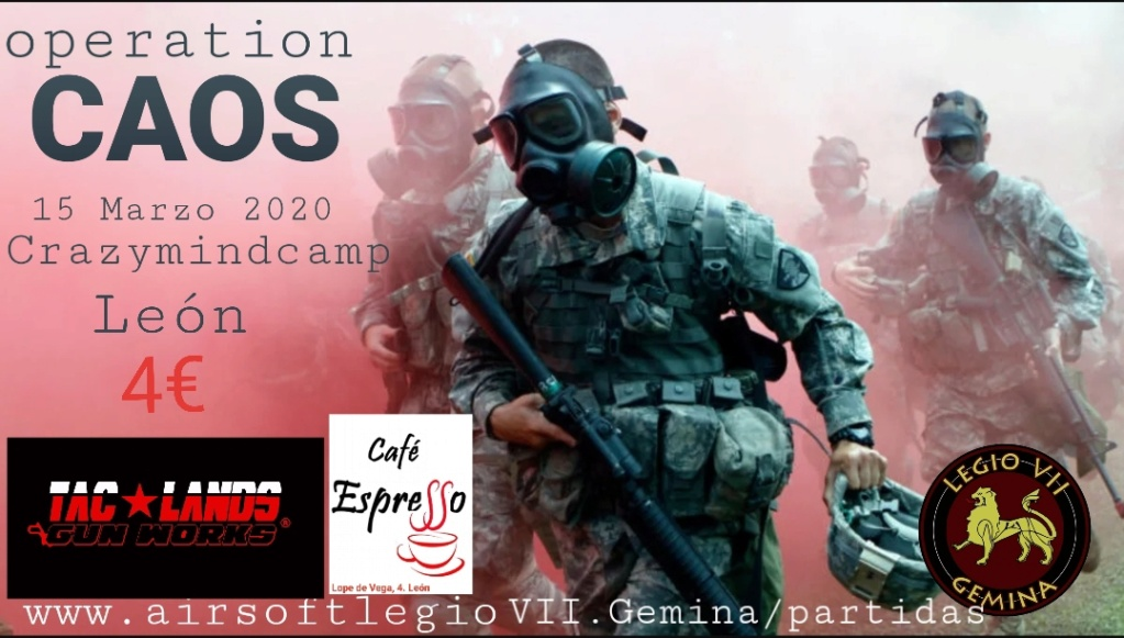 ¡¡¡¡¡APLAZADA!!!!! Operation  CAOS, 15 MARZO 2020 20200310